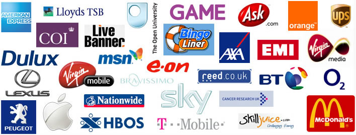 Previous advertisers inc. GAME, COI, EMI, Virgin Media, O2, Apple, T-Mobile, McDonald's and more